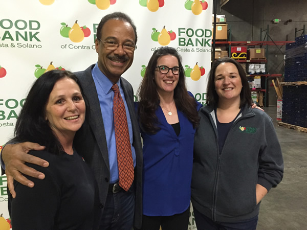 "<div class=""meta image-caption""><div class=""origin-logo origin-image ""><span></span></div><span class=""caption-text"">Prepping for ABC7's food drive at the Food Bank of Contra Costa and Solano counties in Concord. From left to right: Renee Baptiste, Spencer Christian, Lisa Sherrill, Rachel Braver.</span></div>"