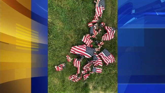 american flags mowed down at hatboro pa cemetery