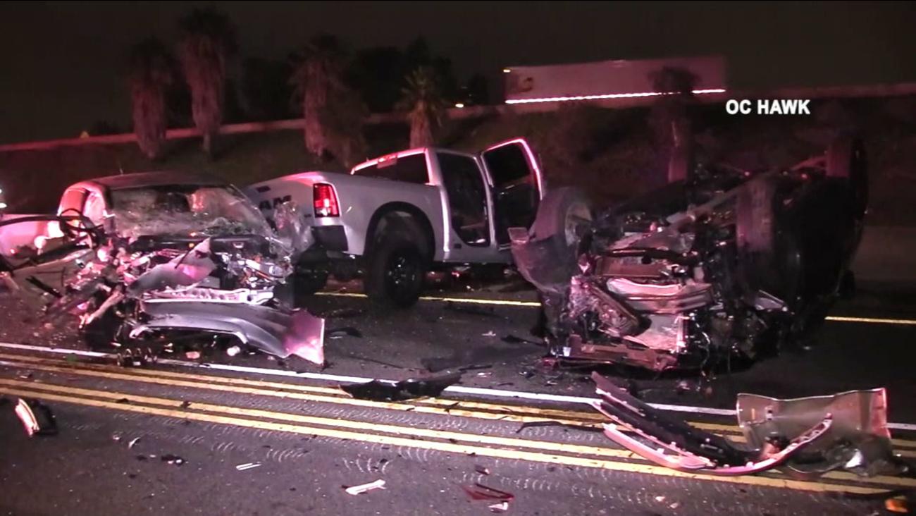 Irvine Crash 9 Vehicle Pileup On Sb 5 Fwy Leaves  Hospitalized