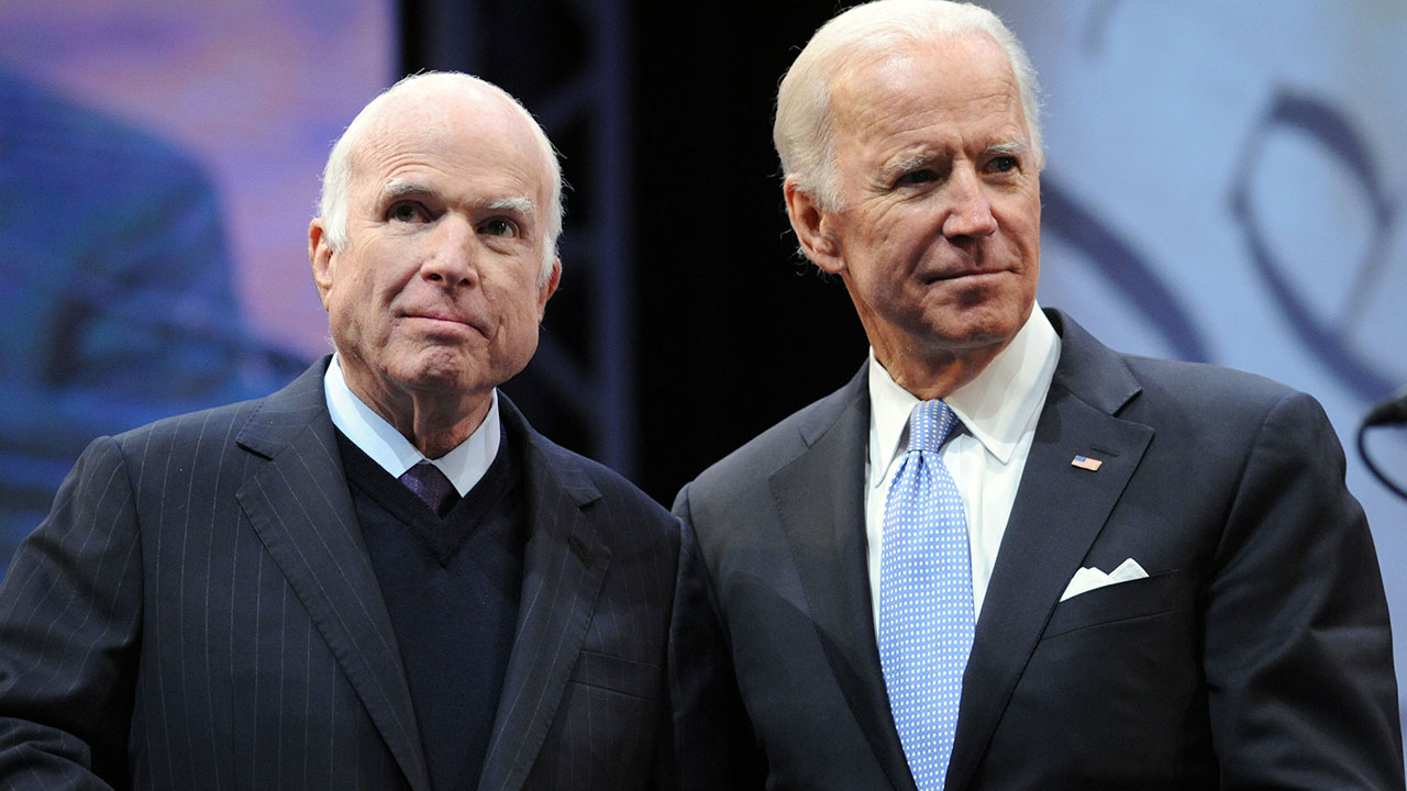 joe biden on decades long friendship with john mccain we re like
