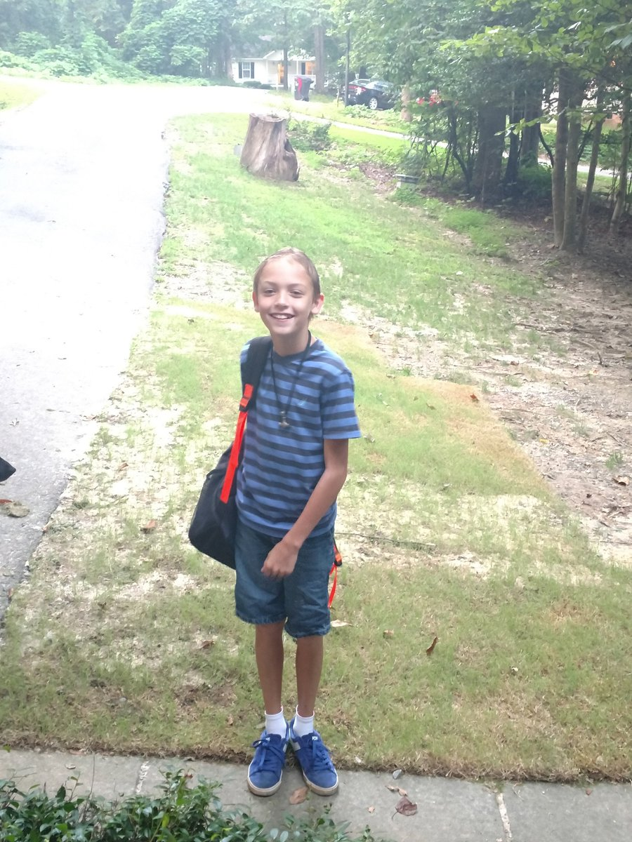 "<div class=""meta image-caption""><div class=""origin-logo origin-image none""><span>none</span></div><span class=""caption-text"">Liam on the first day of middle school! (@SpaceCase9 / Twitter)</span></div>"