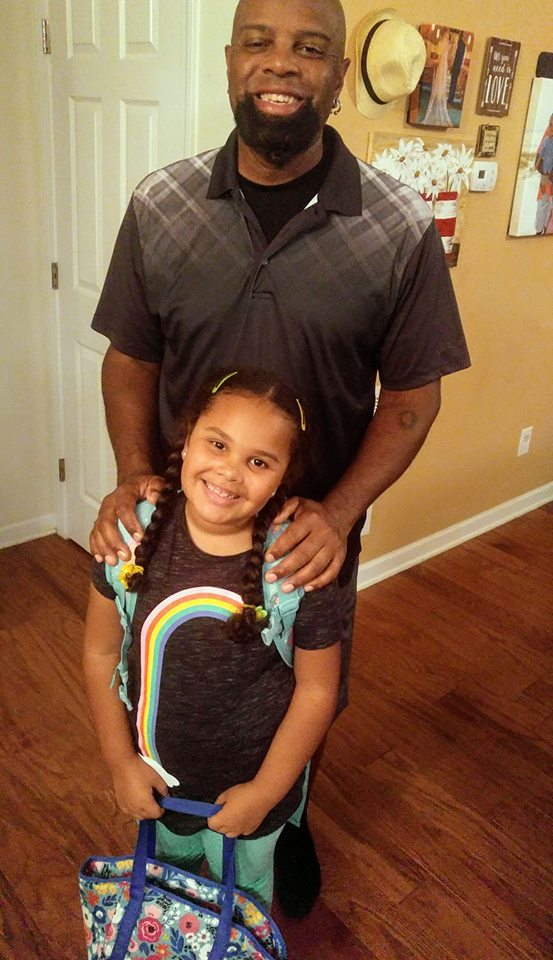 "<div class=""meta image-caption""><div class=""origin-logo origin-image none""><span>none</span></div><span class=""caption-text"">Dad walked Ismaela Smith to her first day of 1st grade at West End Elementary today! (Angela Kay Patton)</span></div>"