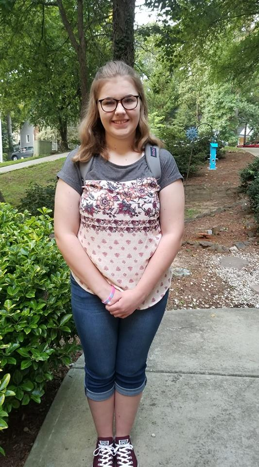 """<div class=""""meta image-caption""""><div class=""""origin-logo origin-image none""""><span>none</span></div><span class=""""caption-text"""">First day of senior year in Knightdale! (Kim Dean Cardin)</span></div>"""