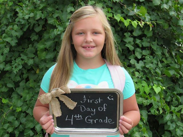 "<div class=""meta image-caption""><div class=""origin-logo origin-image none""><span>none</span></div><span class=""caption-text"">Cheyenne Lee's first day of 4th grade! (Lisa Forbes)</span></div>"