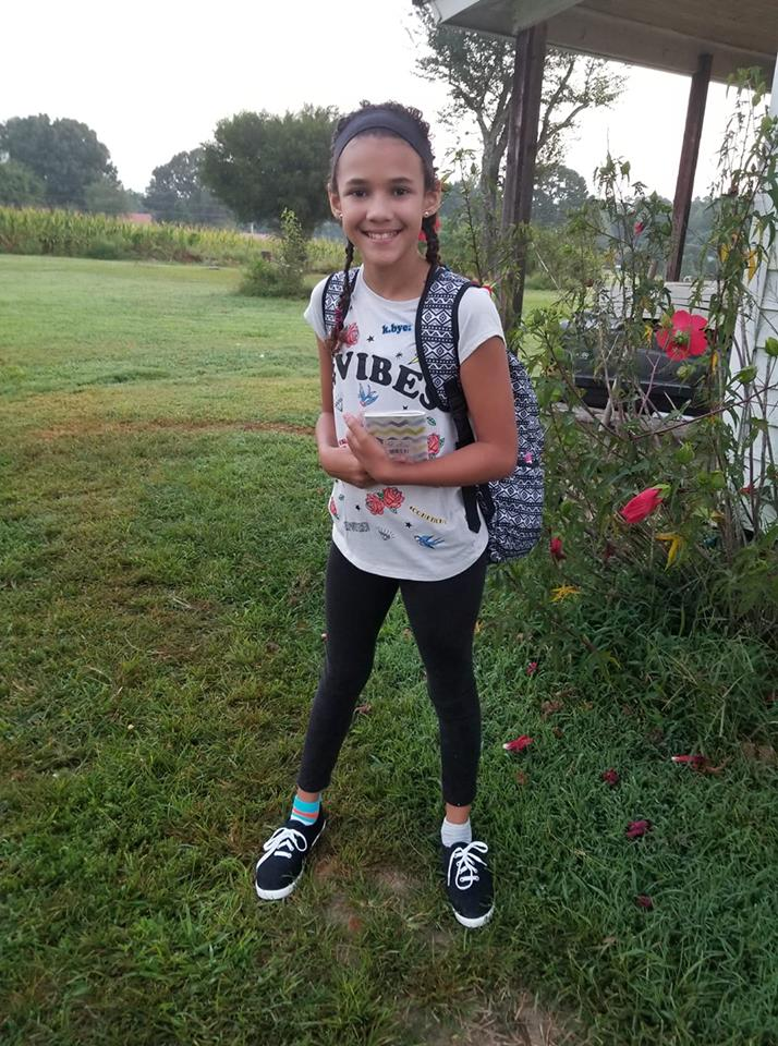 "<div class=""meta image-caption""><div class=""origin-logo origin-image none""><span>none</span></div><span class=""caption-text"">Kadance Lawson on the first day of 6th grade at Southern Middle School! (Sammanthia Walters)</span></div>"