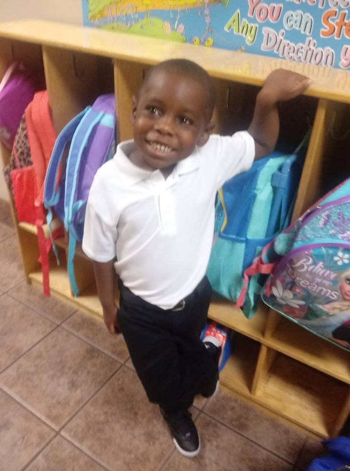 "<div class=""meta image-caption""><div class=""origin-logo origin-image none""><span>none</span></div><span class=""caption-text"">Cameron Williams' first day of kindergarten at World of God Christian Academy! (Shonta Williams)</span></div>"