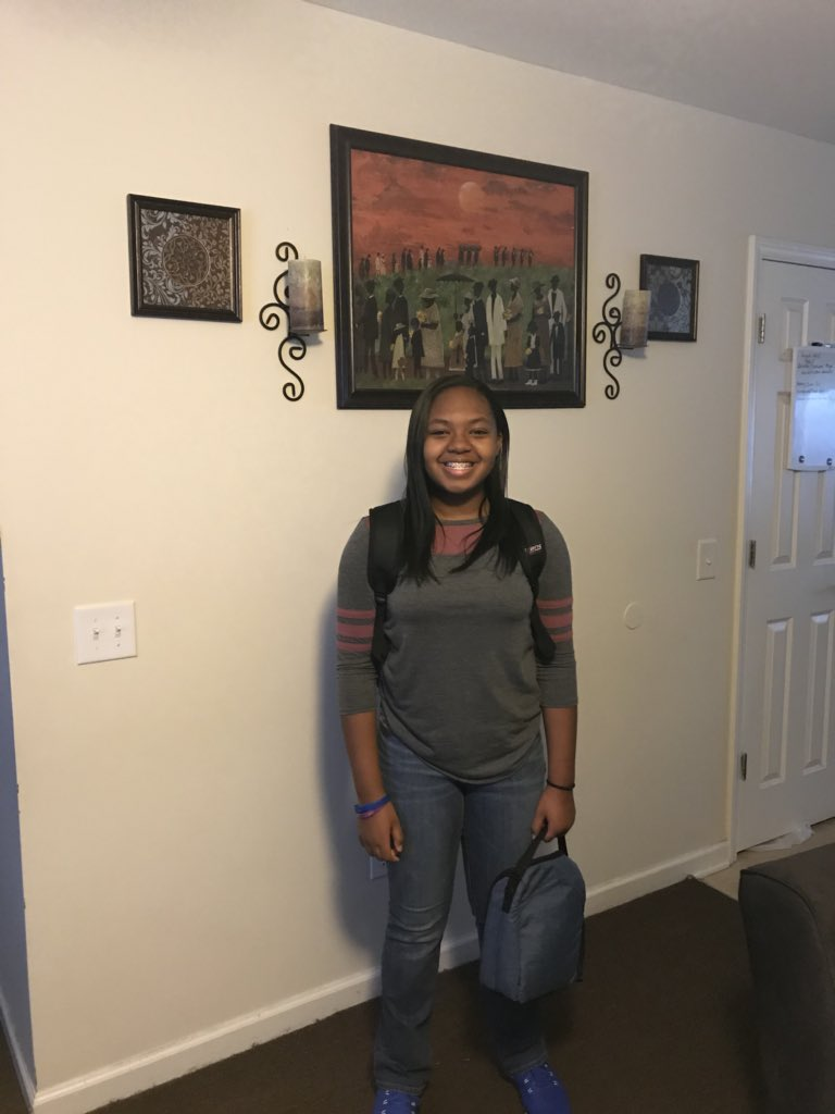 "<div class=""meta image-caption""><div class=""origin-logo origin-image none""><span>none</span></div><span class=""caption-text"">First day of middle school for Meya in Wayne County! (Me'gan Graham)</span></div>"