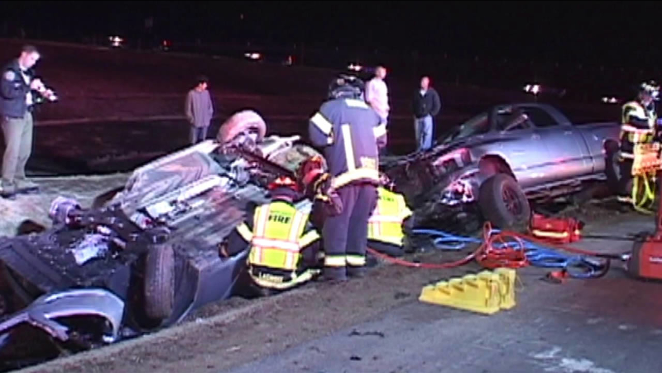 Two people died and one person was hurt in a head-on crash on Highway 101 in Novato.