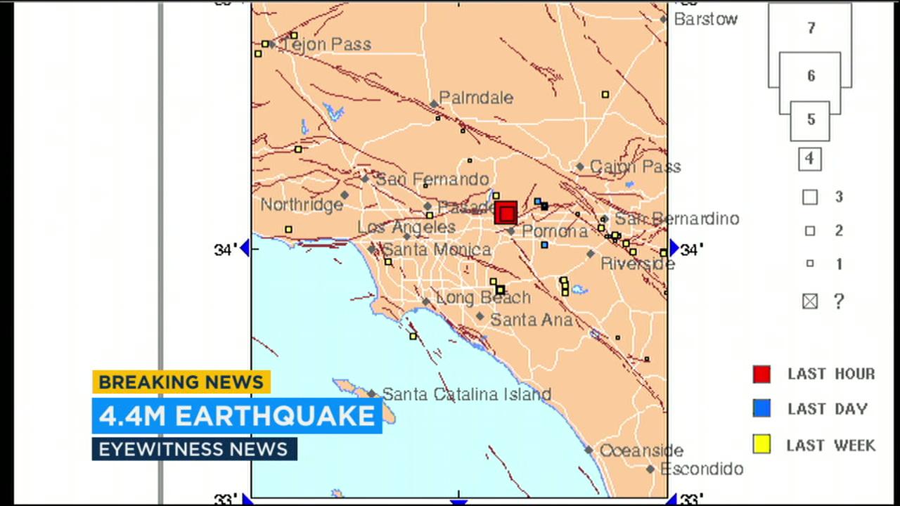 Two Earthquakes Strike La Verne Felt All Over Southland Abc30 Com