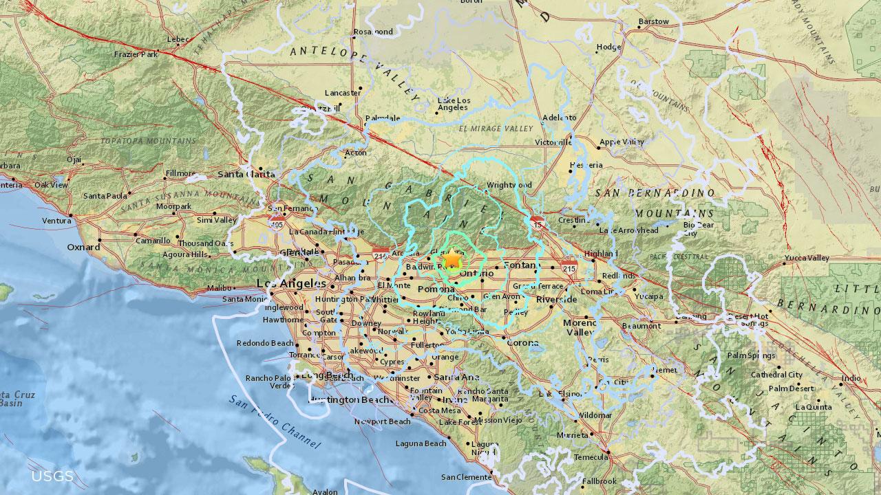 4 4 Magnitude Quake Rattles La Verne Felt All Over Southland Abc7 Com