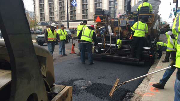 "<div class=""meta image-caption""><div class=""origin-logo origin-image ""><span></span></div><span class=""caption-text"">The city is racing to repave long stretches of arterial streets in Chicago to fix potholes before winter arrives in full force. (WLS Photo/ Jessica D'Onofrio)</span></div>"