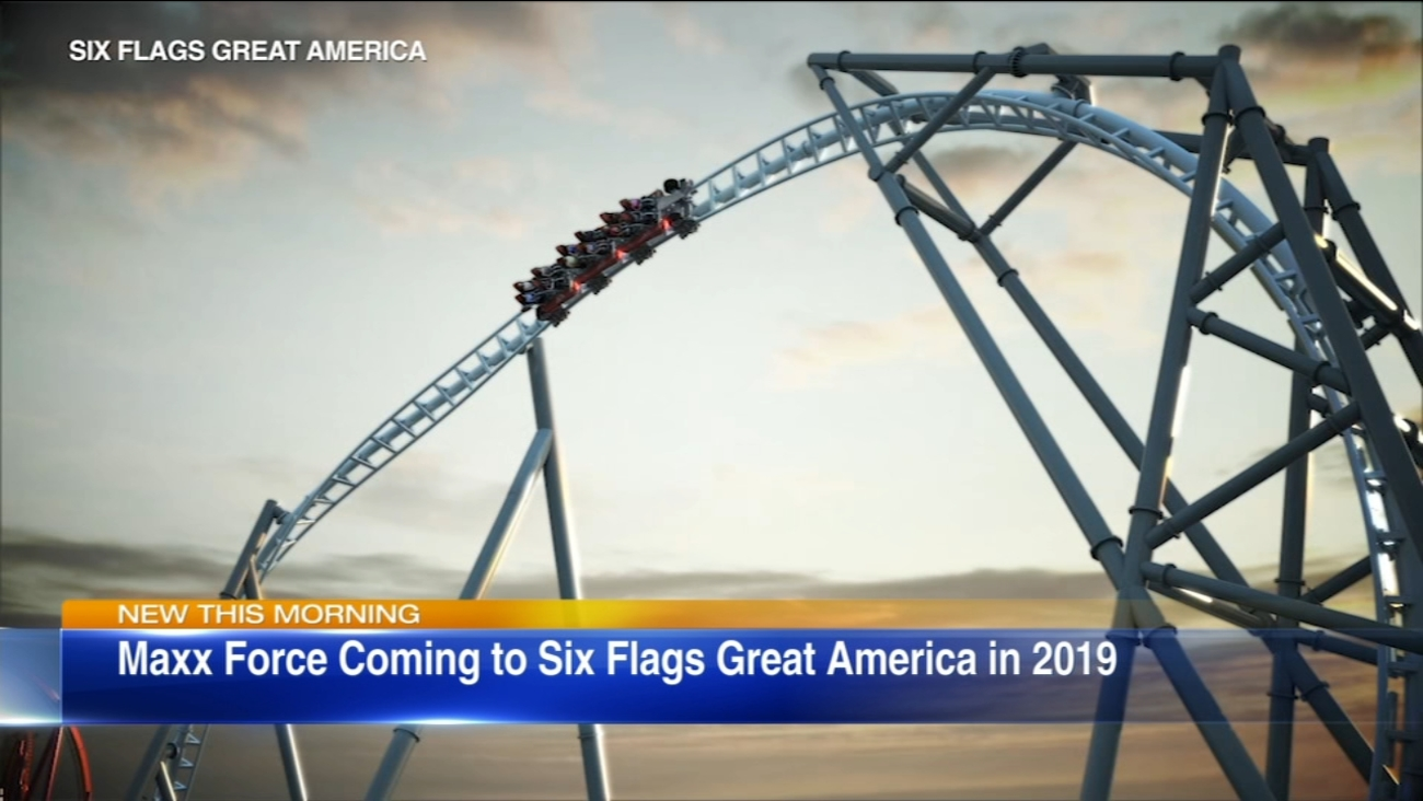 New Maxx Force Roller Coaster Coming To Six Flags Great America In 2019