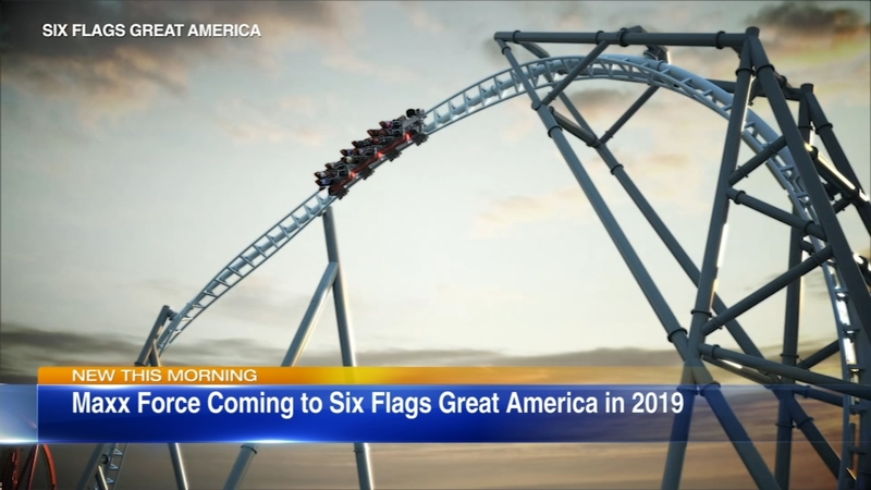 New Maxx Force coming to Six Flags Great America