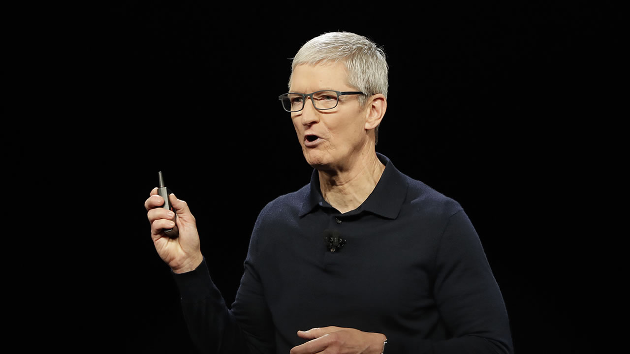 Apple CEO Tim Cook speaks during an announcement of new products at the Apple Worldwide Developers Conference Monday, June 4, 2018, in San Jose, Calif.