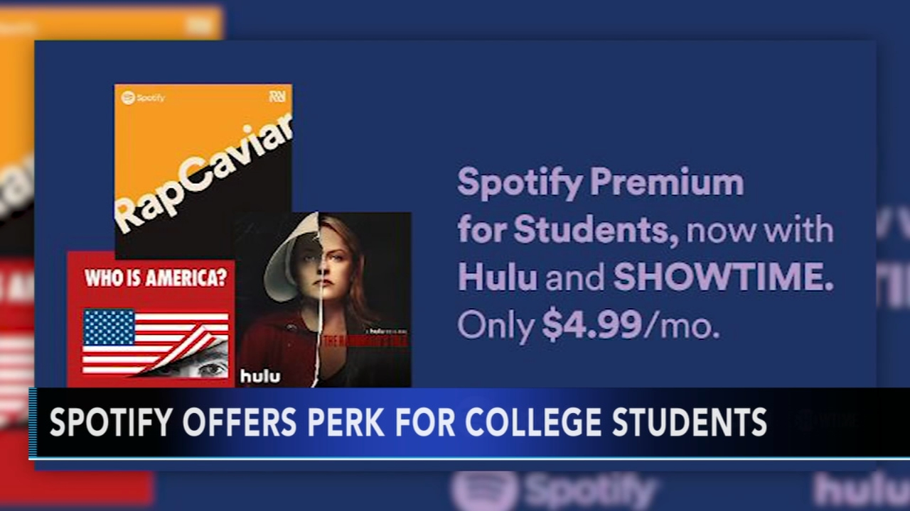 Spotify offering discounted bundle with Hulu for college