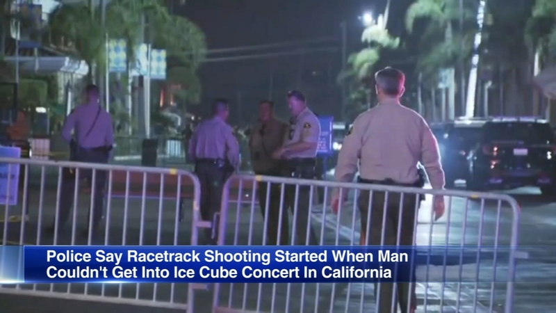 Man angry he couldn't get into Ice Cube concert opens fire at racetrack,  police say