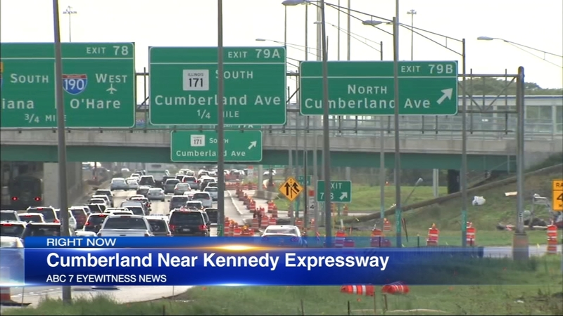 Anti-violence demonstrators aiming to disrupt traffic on Kennedy Expressway  near O'Hare Airport