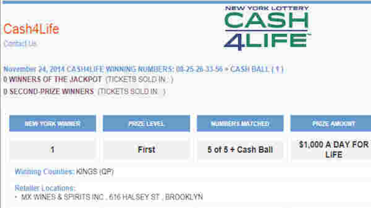$7 million Cash 4 Life lottery ticket sold in Bedford
