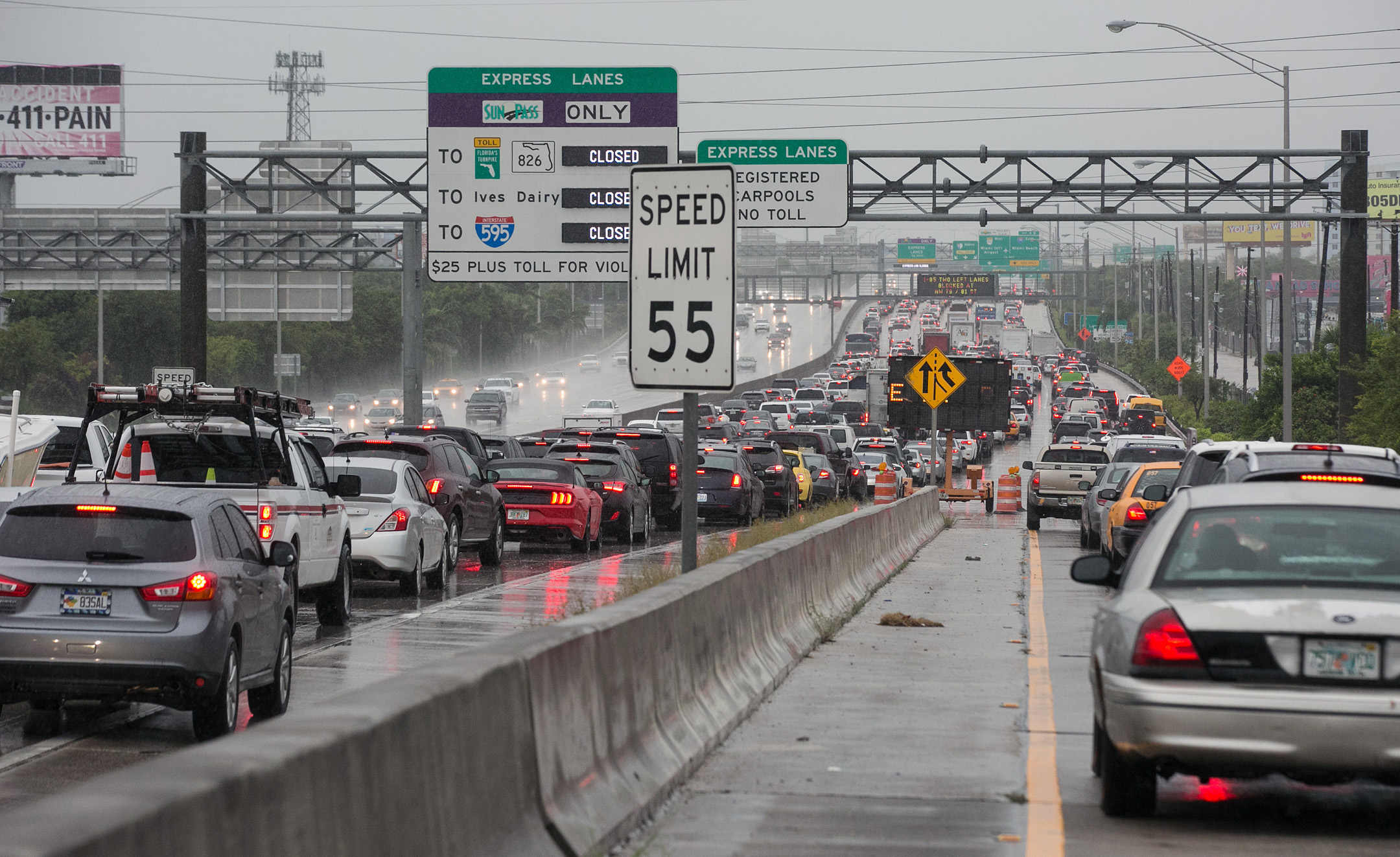 "<div class=""meta image-caption""><div class=""origin-logo origin-image none""><span>none</span></div><span class=""caption-text"">The I-95 Northbound is jammed bumper-to-bumper traffic as Tropical Storm Gordon passes by South Florida with wind gusts and heavy rainfall for the Labor Day holiday on Monday. (David Santiago/Miami Herald/TNS via Getty Images)</span></div>"