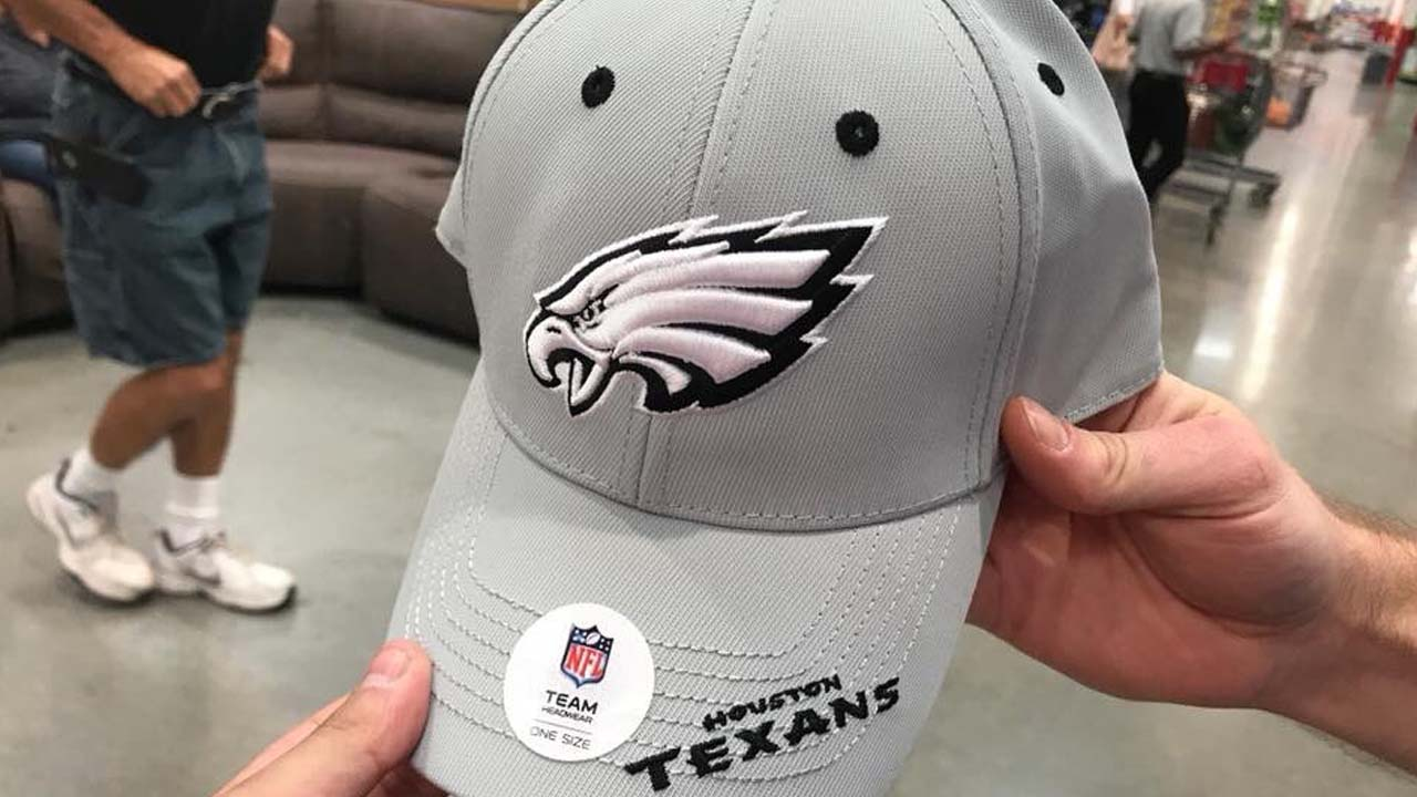 7540281552e Eagles-Texans hat sold at Costco leaves fans scratching their heads
