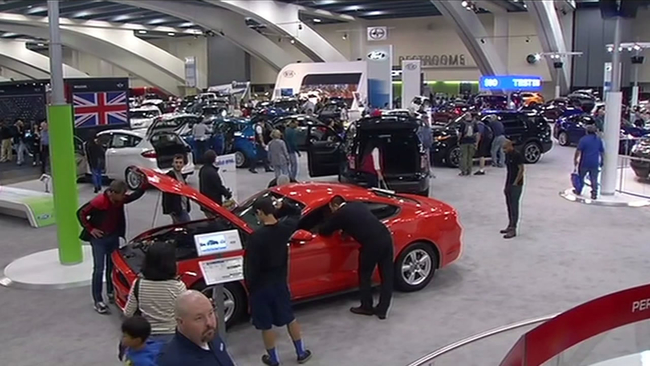 Auto Enthusiasts Flock To International Auto Show At San Franciscos - Moscone car show