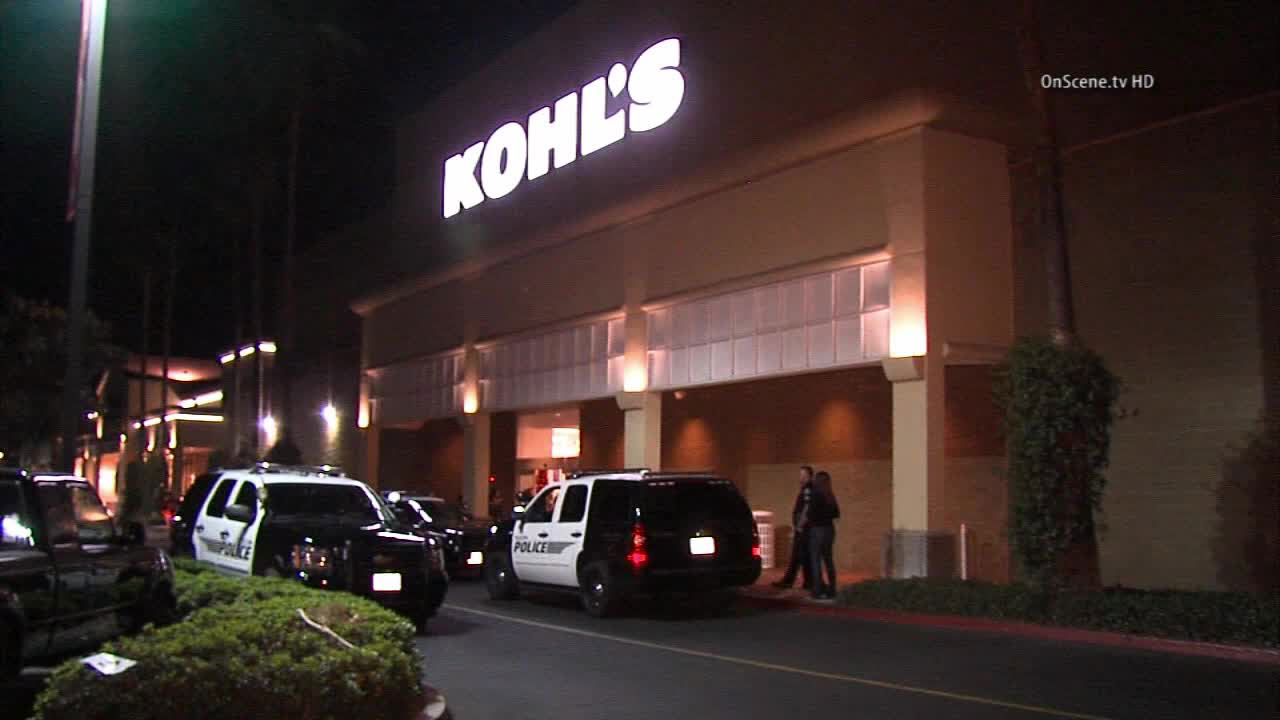 Two people were arrested after a fight broke out at a Kohl's store in Tustin on Friday, Nov. 28, 2014.