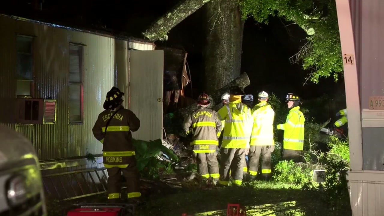 <div class='meta'><div class='origin-logo' data-origin='none'></div><span class='caption-text' data-credit='WKRG'>A child died when a tree fell onto a mobile home in Florida late Tuesday as Gordon made landfall.</span></div>
