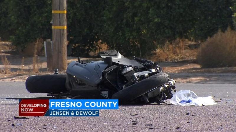 Motorcyclist killed in crash in Fresno County