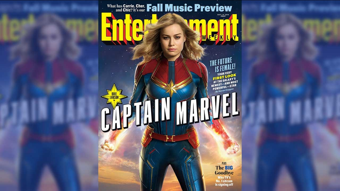 New Images Of Captain Marvel Show Brie Larson In Costume Abc11com