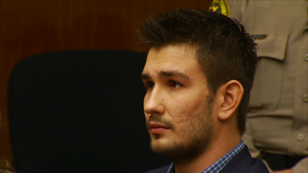 Los Angeles Kings' Slava Voynov appears in court on Monday, Dec. 1, 2014.
