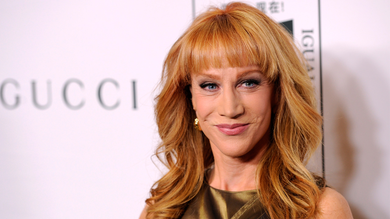 "In this Nov. 3, 2014 file photo, host Kathy Griffin poses at the ""Make Equality Reality"" event at the Montage Hotel in Beverly Hills, Calif."