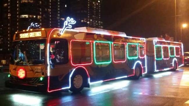 cta holiday bus to take 1st trip along j14 jeffery jump on tuesday abc7chicagocom - Cta Christmas Train 2014