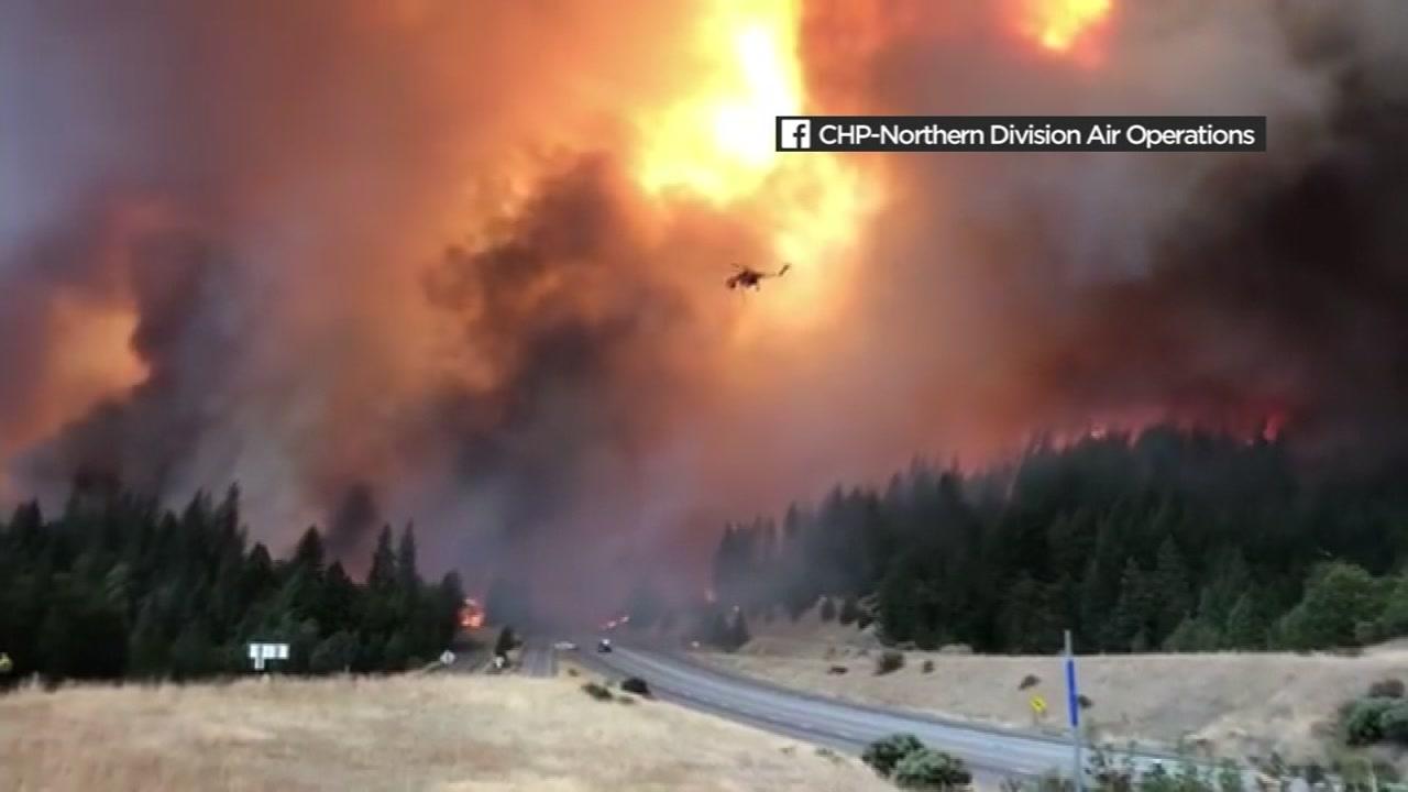 Maps Wildfires Burning Across California Abc7news Com