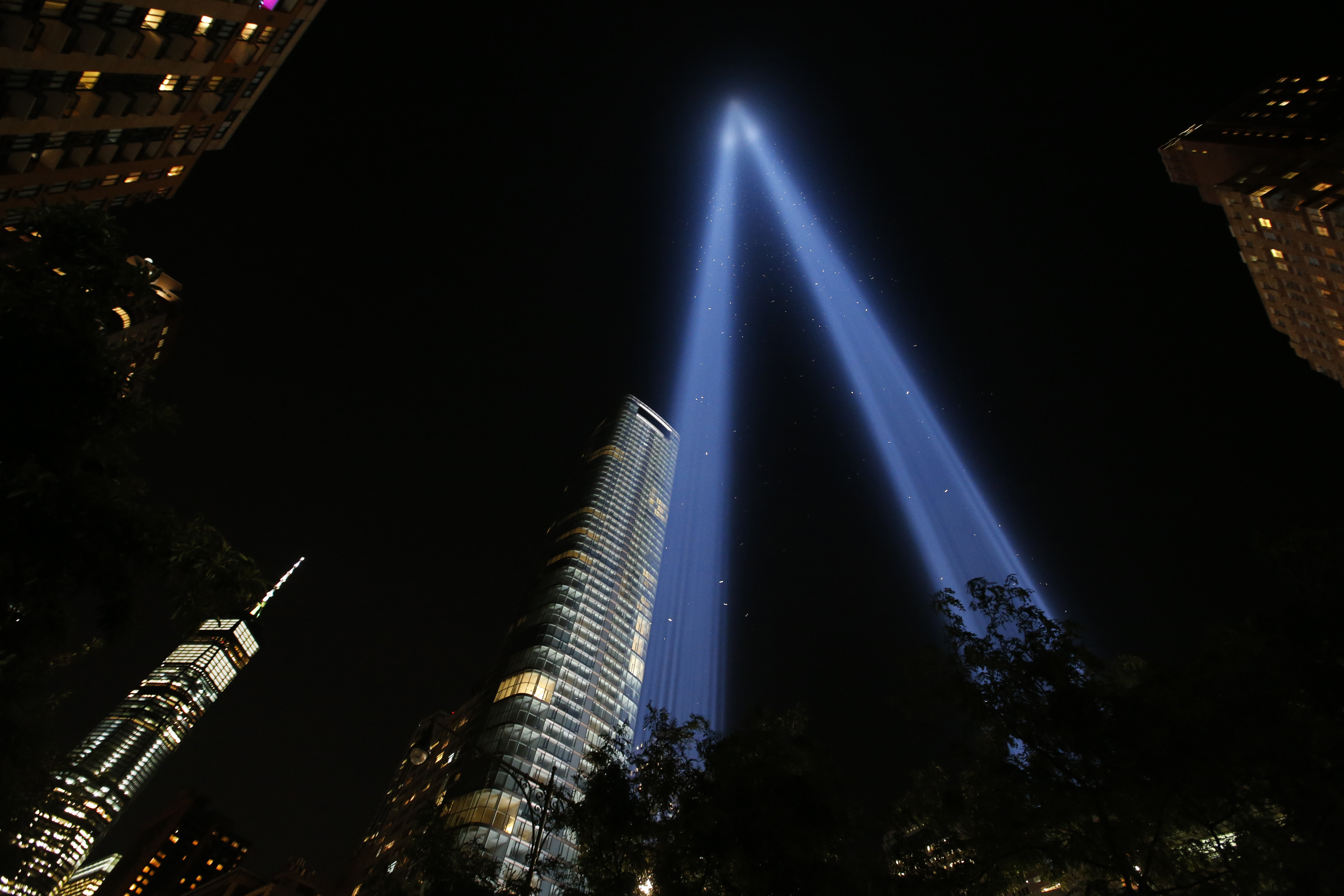 "<div class=""meta image-caption""><div class=""origin-logo origin-image none""><span>none</span></div><span class=""caption-text"">The Tribute in Light is seen in the sky above Lower Manhattan on the 16th anniversary of the Sept. 11 terror attacks, Monday, Sept. 11, 2017, in New York. (AP Photo/Jason DeCrow)</span></div>"