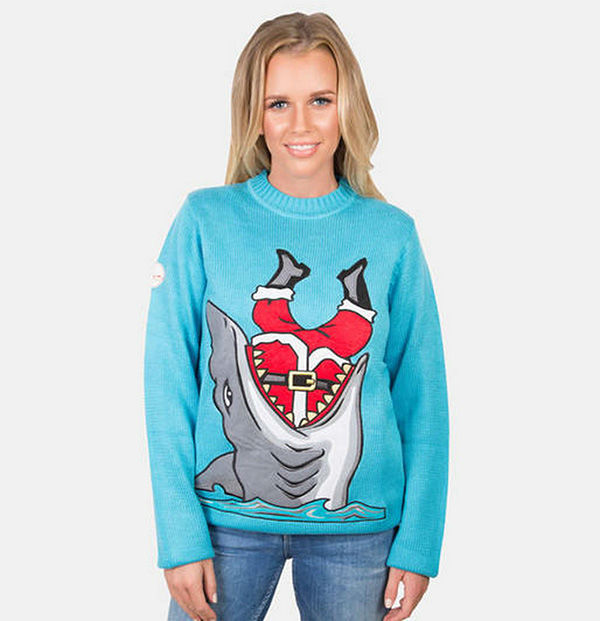 "<div class=""meta image-caption""><div class=""origin-logo origin-image ""><span></span></div><span class=""caption-text"">We think that shark might be on the 'naughty' list. (FunkyChristmasSweaters.com)</span></div>"
