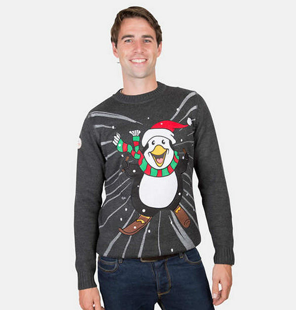 "<div class=""meta image-caption""><div class=""origin-logo origin-image ""><span></span></div><span class=""caption-text"">Super excited skiing penguin. (FunkyChristmasSweaters.com)</span></div>"