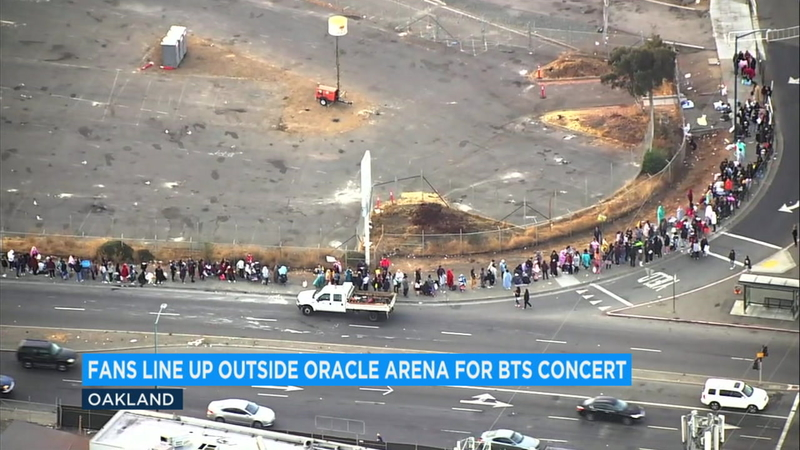 Hundreds of BTS fans line up days ahead of Oakland concert
