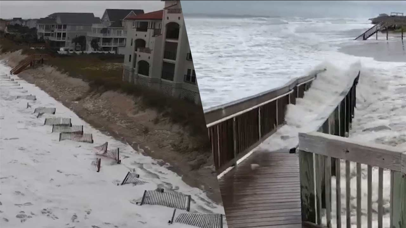 Hurricane Florence Video Waves Pummel North Topsail Beach As Storm Nears Abc11