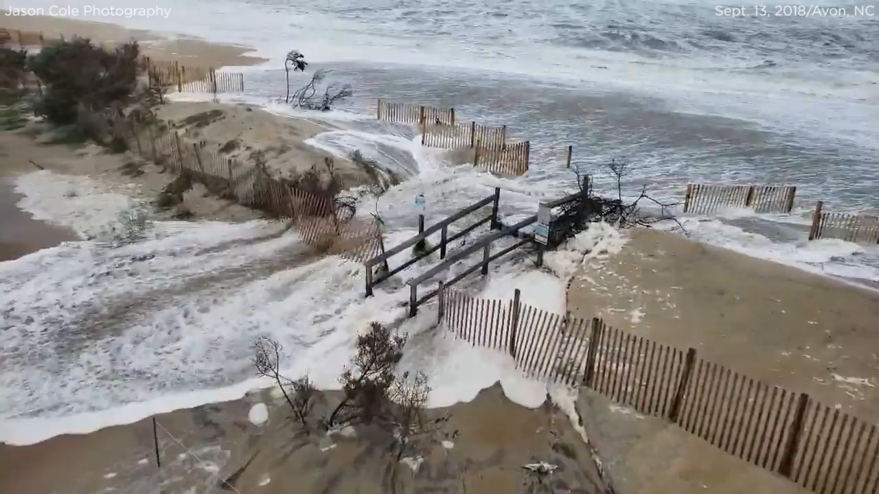Hurricane Florence Video Storm Brings Significant Flooding To New Bern Topsail Beach Wilmington And More 6abc