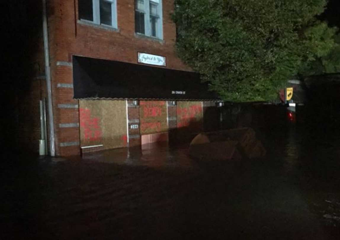 "<div class=""meta image-caption""><div class=""origin-logo origin-image none""><span>none</span></div><span class=""caption-text"">The police department in New Bern, N.C. shared these photos of the flooding taken while looking for people who needed help. (NewBernPD/Twitter)</span></div>"