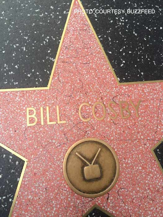 Bill Cosby's star on the Hollywood Walk of Fame was found vandalized on Friday, Dec. 5, 2014.