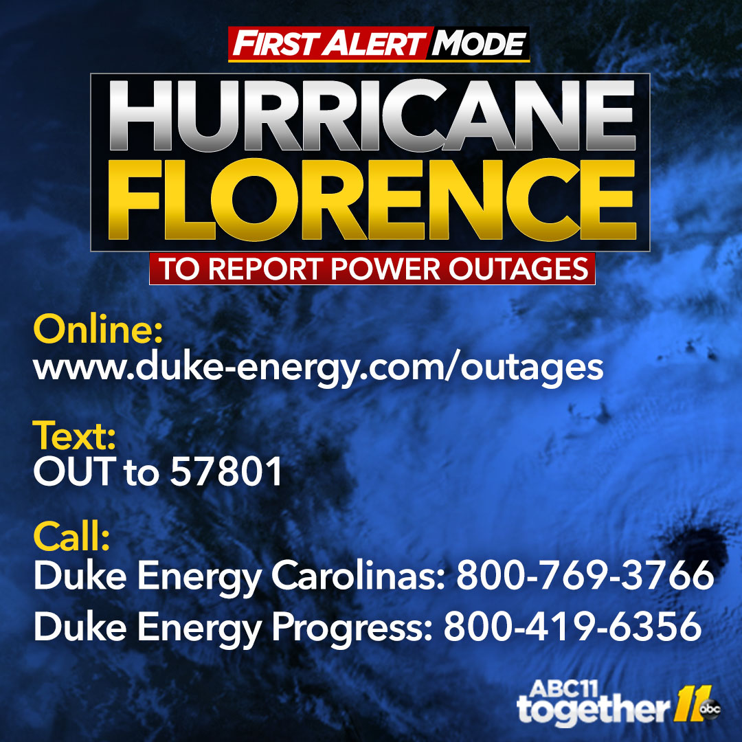Tropical Storm Florence Power Outages Map Thousands Without Power