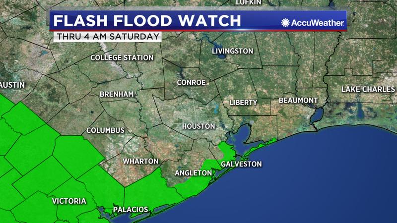 Flash Flood Watch for coastal counties until 4 a.m. Saay on