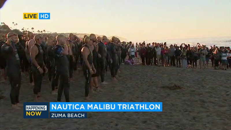 Athletes raise money for childhood cancer research at Children's Hospital  Los Angeles in Malibu triathlon - ABC7 Los Angeles
