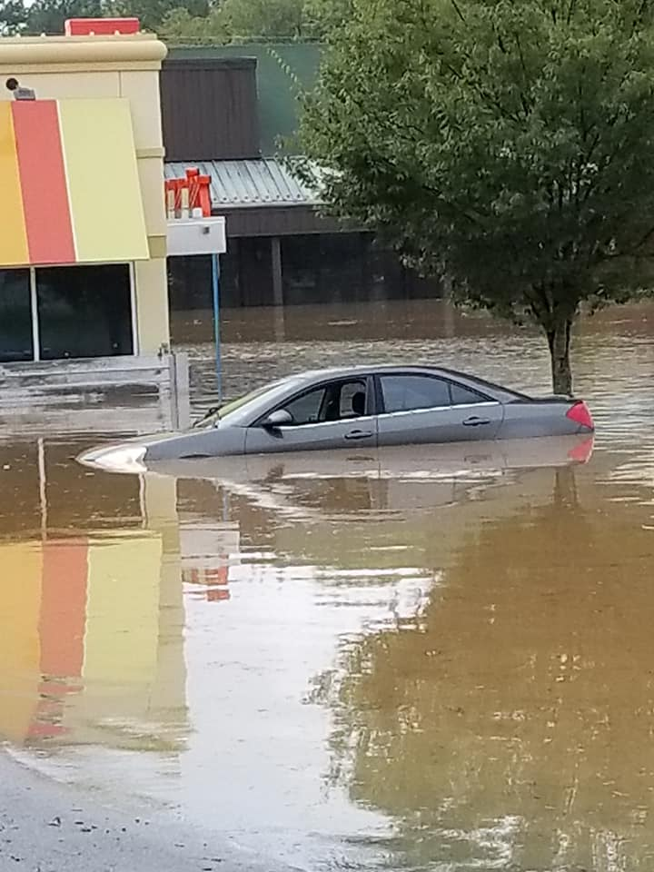 "<div class=""meta image-caption""><div class=""origin-logo origin-image wtvd""><span>WTVD</span></div><span class=""caption-text"">Flooding at Eastgate shopping center in Chapel Hill, N.C., on Monday. (ABC11 Eyewitness - Sue Worgess Hatrick)</span></div>"