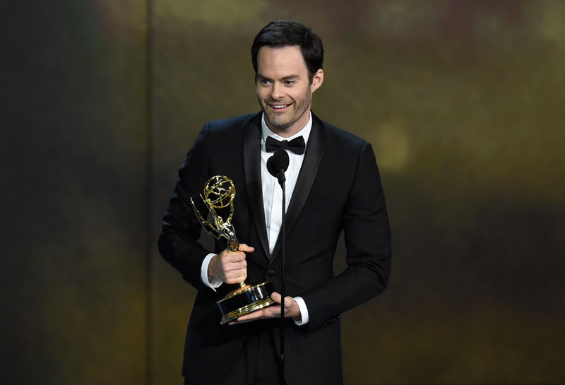 "<div class=""meta image-caption""><div class=""origin-logo origin-image ap""><span>AP</span></div><span class=""caption-text"">Bill Hader accepts the award for outstanding lead actor in a comedy series for ""Barry"" at the 70th Primetime Emmy Awards. (Photo by Chris Pizzello/Invision/AP)</span></div>"