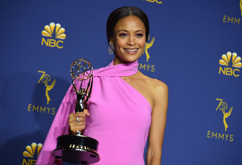 "<div class=""meta image-caption""><div class=""origin-logo origin-image ap""><span>AP</span></div><span class=""caption-text"">Thandie Newton, winner of the award for outstanding supporting actress in a drama series for ""Westworld."" (Photo by Jordan Strauss/Invision/AP)</span></div>"