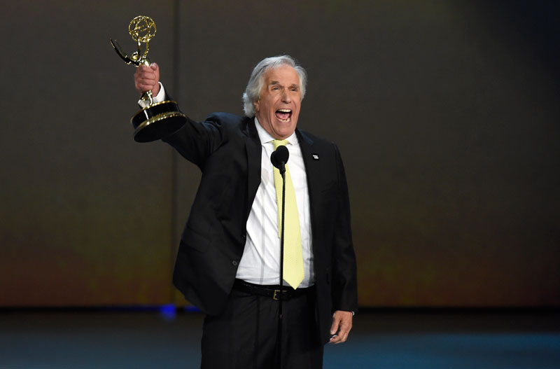 "<div class=""meta image-caption""><div class=""origin-logo origin-image ap""><span>AP</span></div><span class=""caption-text"">Henry Winkler accepts the award for outstanding supporting actor in a comedy series for ""Barry"" at the 70th Primetime Emmy Awards. (Photo by Chris Pizzello/Invision/AP)</span></div>"