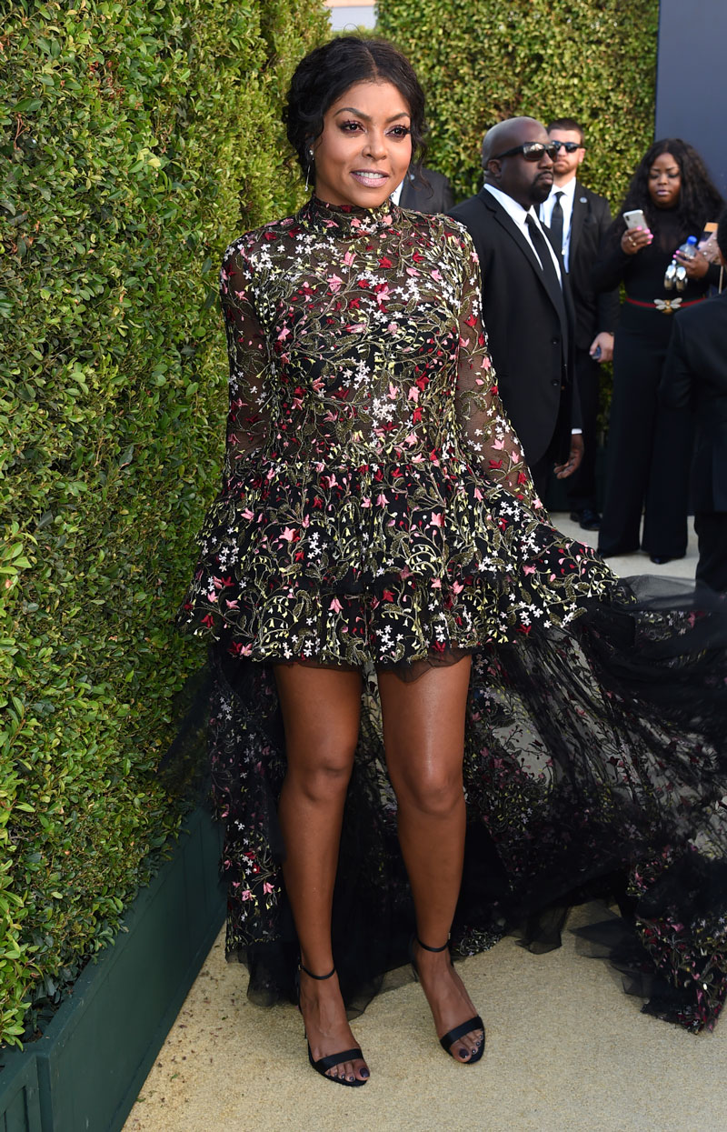 """<div class=""""meta image-caption""""><div class=""""origin-logo origin-image ap""""><span>AP</span></div><span class=""""caption-text"""">Taraji P. Henson arrives at the 70th Primetime Emmy Awards on Monday, Sept. 17, 2018, at the Microsoft Theater in Los Angeles. (Photo by Richard Shotwell/Invision/AP)</span></div>"""