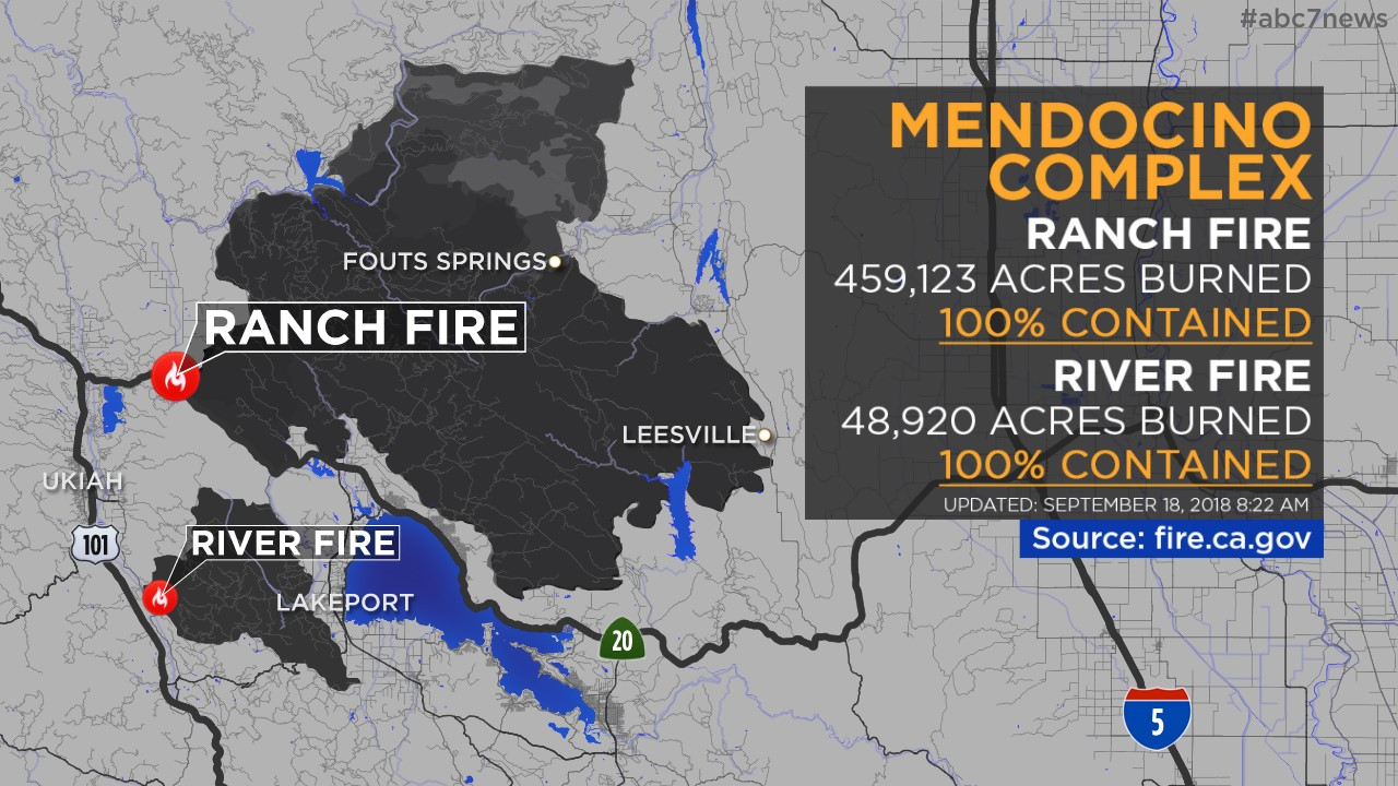 Maps Wildfires Burning Across California Abc7news Com